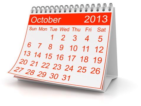 カレンダー「2013 年 10 月」:スマホ壁紙(8)