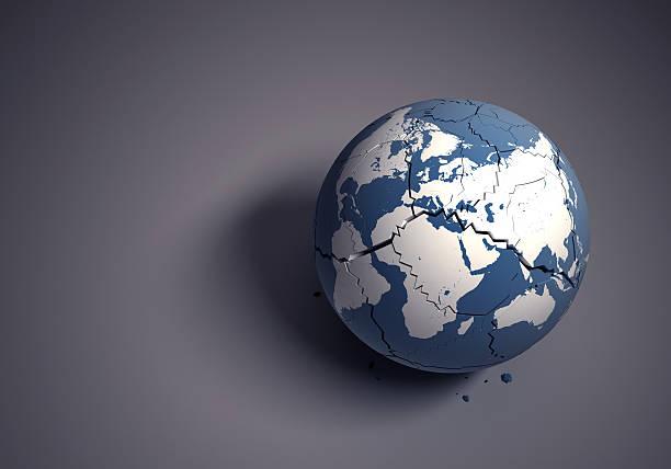 Broken globe concept for fragile world heritage:スマホ壁紙(壁紙.com)