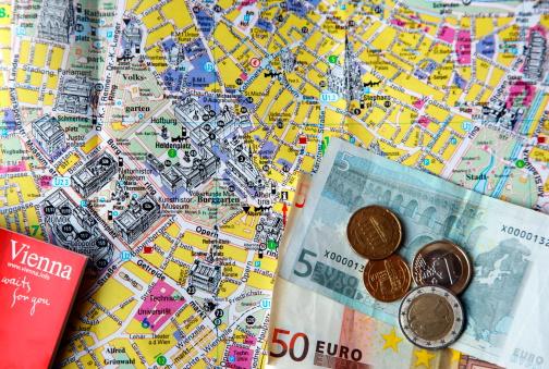 Guidebook「A tourist guide book, map of central Vienna, Austr」:スマホ壁紙(5)