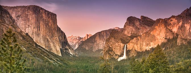 Half Dome「Yosemite National Park panoramic California USA」:スマホ壁紙(18)