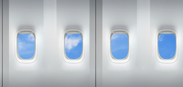 Commercial Airplane「Airplane windows repeating pattern」:スマホ壁紙(5)