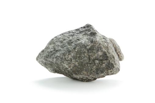 Rock - Object「Isolated basalt rock on white」:スマホ壁紙(6)