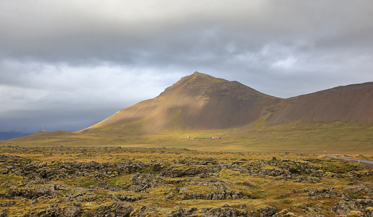 Lava「Landscape of Snaefellsnes peninsula near Amastapi, Iceland.」:スマホ壁紙(18)
