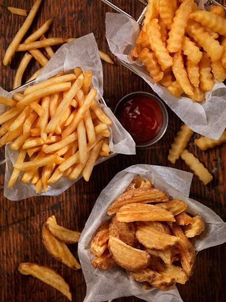 Baskets of French Fries:スマホ壁紙(壁紙.com)