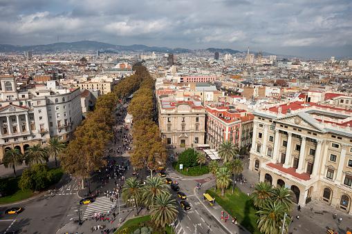 Avenue「Spain, Barcelona, La Rambla」:スマホ壁紙(9)