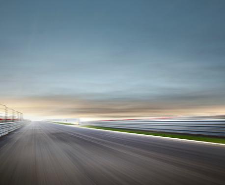 Blurred Motion「Moody Race Track」:スマホ壁紙(9)