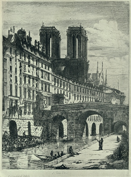 Water's Edge「'Le Petit Pont', 1915. Artist: CH Meryon.」:写真・画像(1)[壁紙.com]
