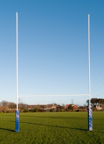 Wooden Post「Rugby goalpost in park」:スマホ壁紙(3)