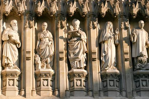 Abbey - Monastery「Westminster Abbey detail of Saints, London」:スマホ壁紙(18)