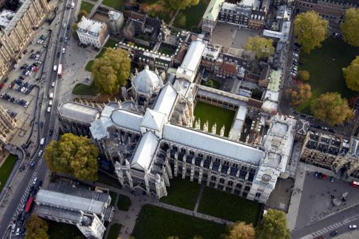 Abbey - Monastery「Westminster Abbey and school, London SW1, aerial」:スマホ壁紙(13)