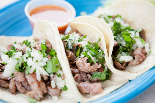 Tortilla - Flatbread「Mexican food: three gourmet steak tacos」:スマホ壁紙(17)