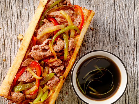 Pennsylvania「Philly Steak Sandwich with Peppers and Au Jus」:スマホ壁紙(7)