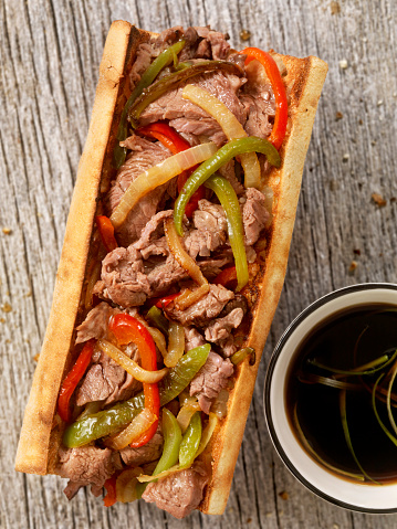 Pennsylvania「Philly Steak Sandwich with Peppers and Au Jus」:スマホ壁紙(6)