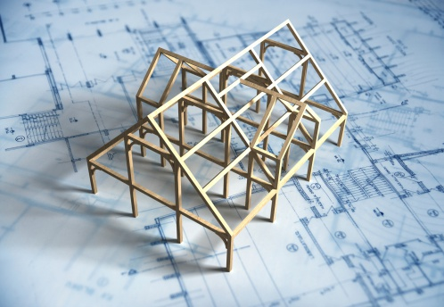 Construction Frame「Model House and Blueprint」:スマホ壁紙(8)