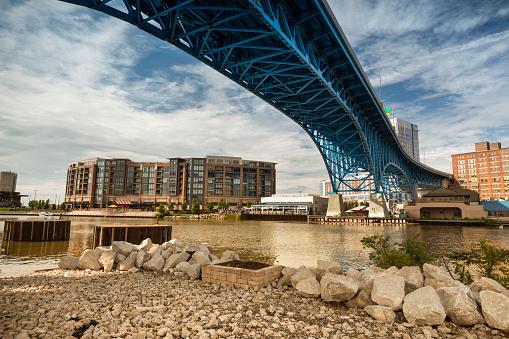 Rock Music「Downtown Cleveland city skyline in Ohio USA」:スマホ壁紙(1)