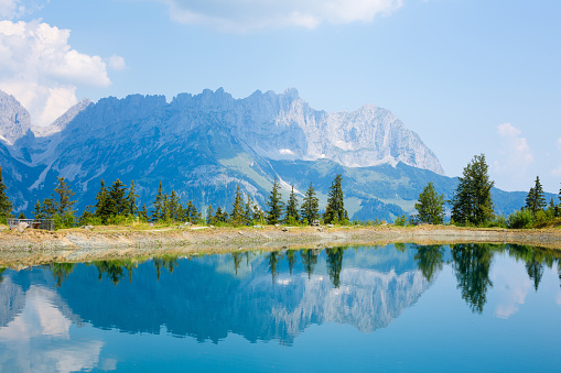Ellmau「View of Mt.Wilder Kaiser, Astberg, Going, Tyrol, Austria」:スマホ壁紙(6)