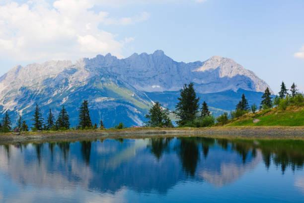 View of Mt.Wilder Kaiser, Astberg, Going, Tyrol, Austria:スマホ壁紙(壁紙.com)