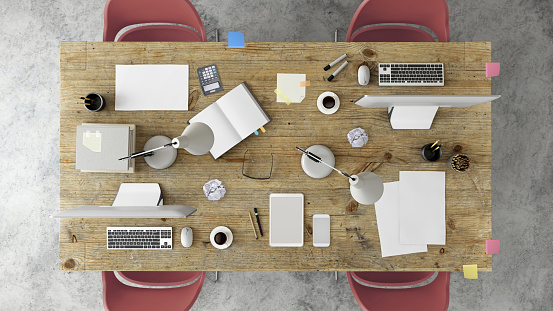 Template「Knolling top view of a team office table」:スマホ壁紙(7)