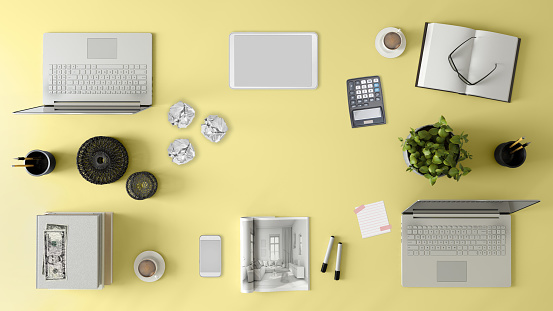 Template「Knolling top view of a team office table」:スマホ壁紙(16)