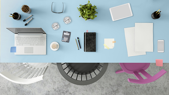Letter - Document「Knolling top view of a team office table」:スマホ壁紙(7)