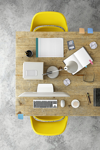 Template「Knolling top view of a team office table」:スマホ壁紙(4)