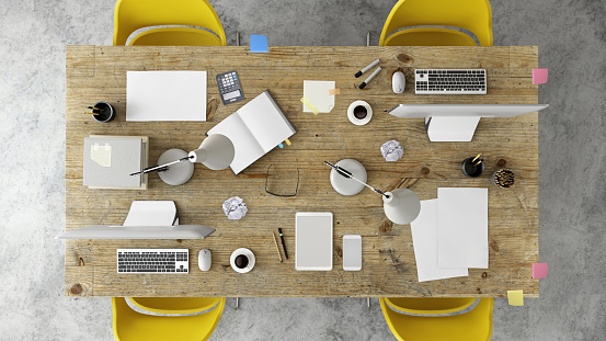 Template「Knolling top view of a team office table」:スマホ壁紙(18)