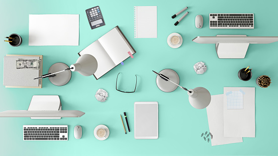Template「Knolling top view of a team office table」:スマホ壁紙(11)