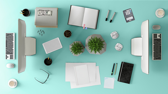 Template「Knolling top view of a team office table」:スマホ壁紙(17)