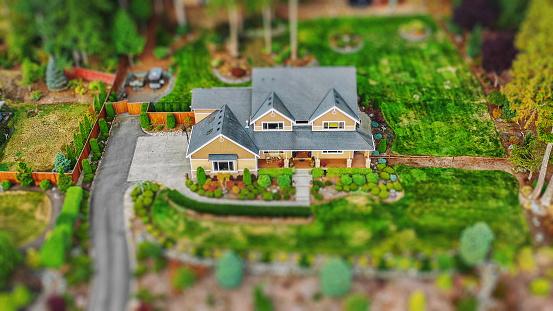 Tilt-Shift「House Exterior Aerial Tilt-shift Photo」:スマホ壁紙(15)