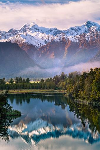 Fox Glacier「Lake Matheson, South Island, New Zealand.」:スマホ壁紙(14)
