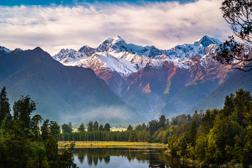 Mt Cook「Lake Matheson, South Island, New Zealand.」:スマホ壁紙(17)