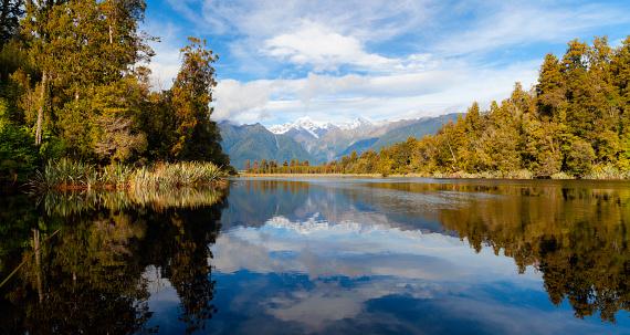 Mount Tasman「Lake Matheson In New Zealand」:スマホ壁紙(11)