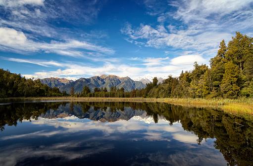 Lake Matheson「Lake Matheson And New Zealand's Southern Alps」:スマホ壁紙(17)