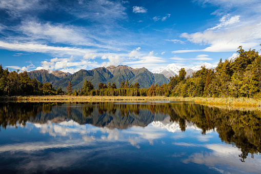 Mt Cook「Lake Matheson And New Zealand's Southern Alps」:スマホ壁紙(12)