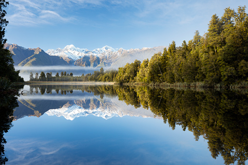 New Zealand「Lake Matheson misty morning, New Zealand」:スマホ壁紙(13)