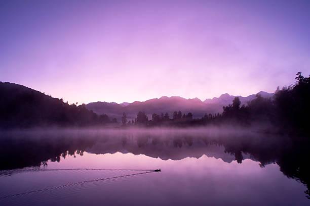 Lake Matheson And The Southern Alps At Dawn:スマホ壁紙(壁紙.com)