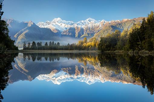 Mt Cook「Lake Matheson early morning, New Zealand」:スマホ壁紙(4)