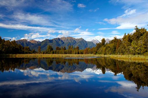 Westland - South Island New Zealand「Lake Matheson On New Zealand's South Island」:スマホ壁紙(15)