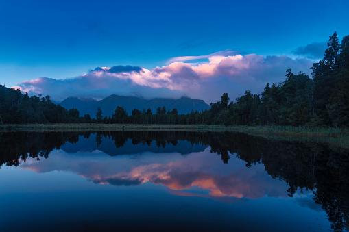 Westland - South Island New Zealand「Lake Matheson, Fox Glacier」:スマホ壁紙(9)