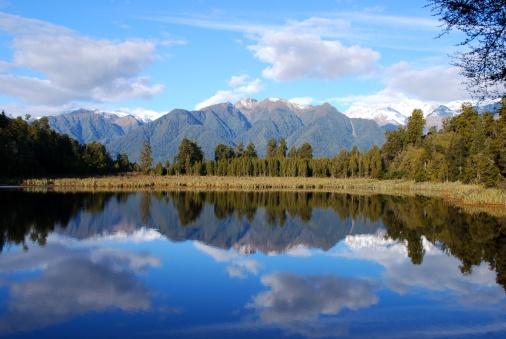 Mount Tasman「Lake Matheson Reflection, West Coast, New Zealand」:スマホ壁紙(19)
