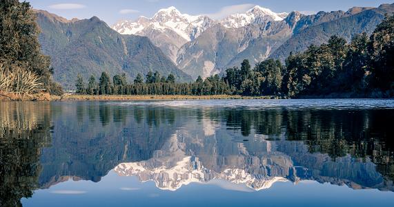 Fox Glacier「Lake Matheson Reflections Panorama, New Zealand」:スマホ壁紙(2)