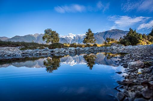 Franz Josef Glacier「Lake Matheson Reflections Panorama, New Zealand」:スマホ壁紙(14)
