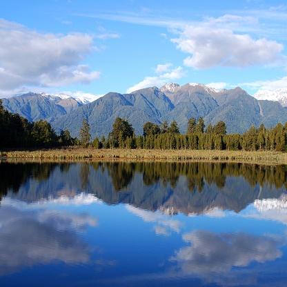 Mt Cook「Lake Matheson, West Coast, New Zealand」:スマホ壁紙(3)