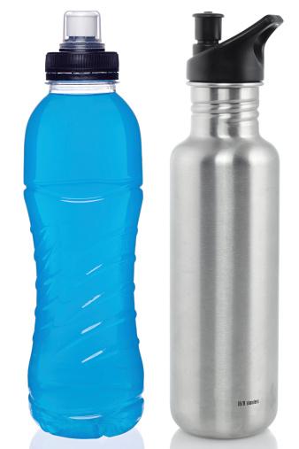 Drinking「Sports drink and steel bottle」:スマホ壁紙(5)