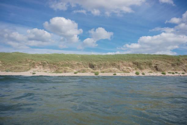 Beach landscape, Aberlady Bay, East Lothian, Scotland, UK:スマホ壁紙(壁紙.com)