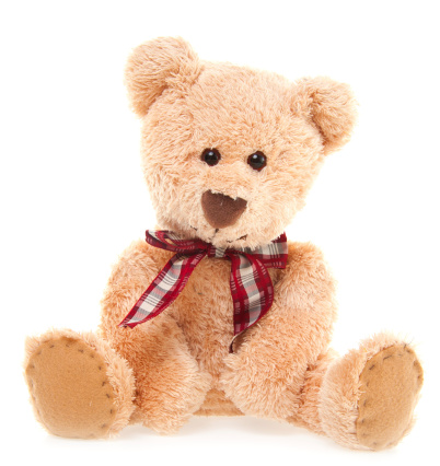 Stuffed「CuteTeddy Bear Toy Sitting, Isolated on White」:スマホ壁紙(16)