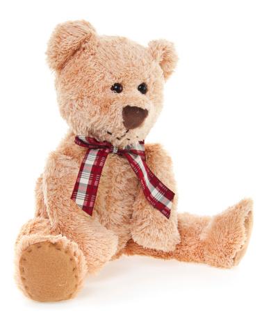 Doll「CuteTeddy Bear Toy Sitting, Isolated on White」:スマホ壁紙(15)