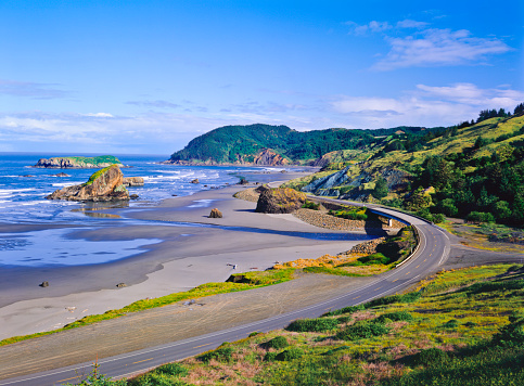 Cape Sebastian「Cape Sebastian state scenic coast with rocks」:スマホ壁紙(4)
