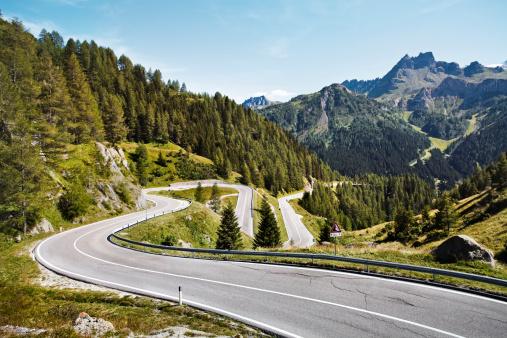 Trentino-Alto Adige「Winding Mountain Path」:スマホ壁紙(13)