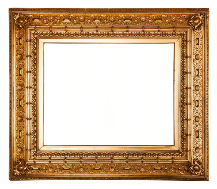 Rectangle「Ornate carved gilded picture frame.」:スマホ壁紙(15)